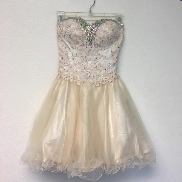 Dresses Cream Lace Homecoming Dress Poshmark